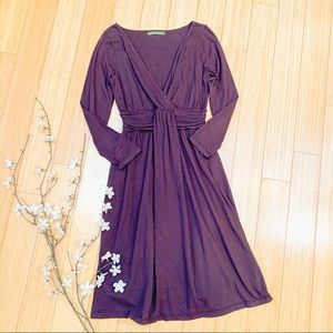 Anthropologie VELVET knit brown dress, M.
